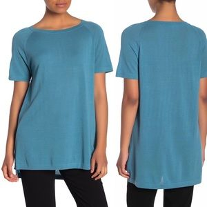 Eileen Fisher Bateau Neck Tunic Top River NWT